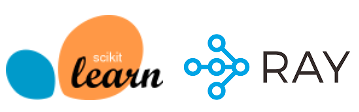 logos of Scikit-learn and Ray Projects